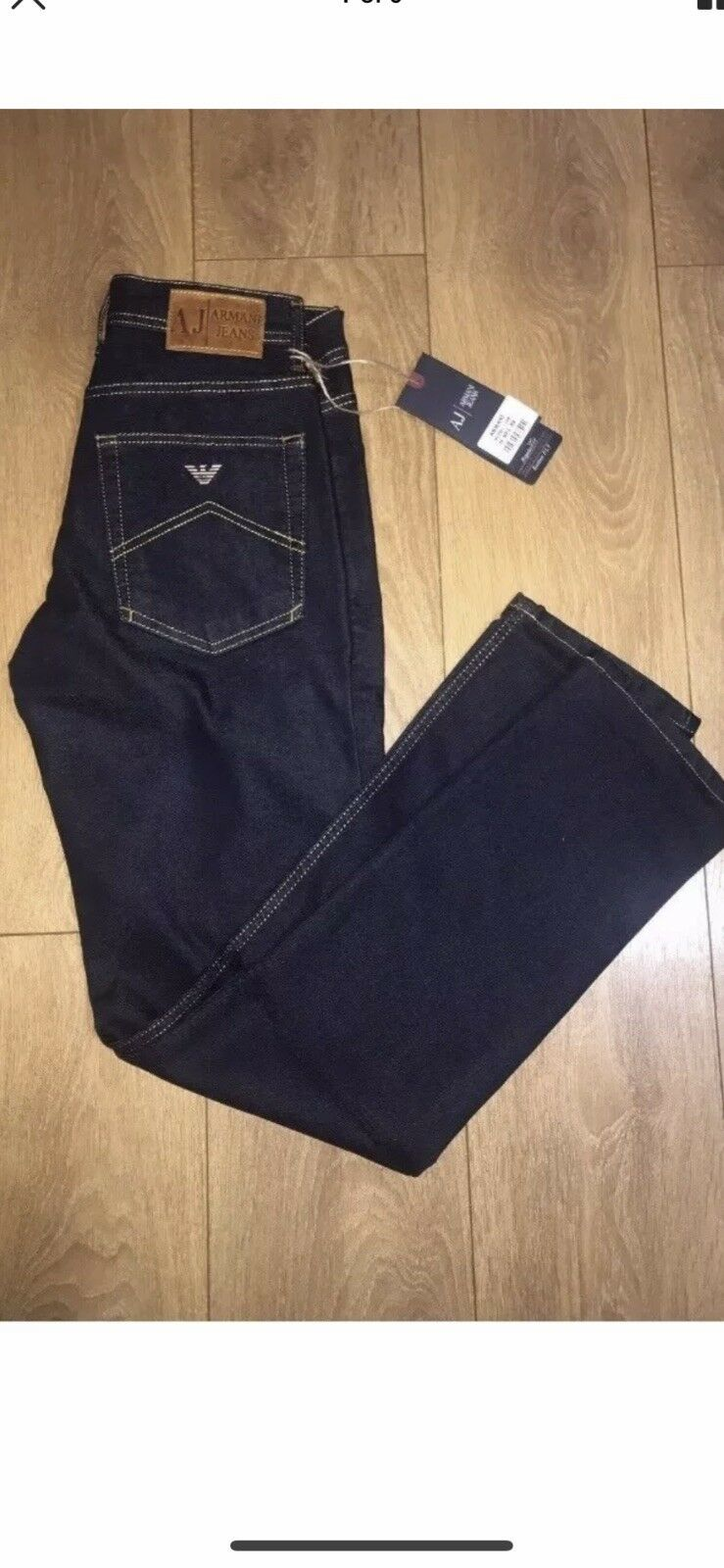 "Men's Armani Jeans Dark Navy bluee 34""Waist 32""leg New BNWT Free Post J45 Style"