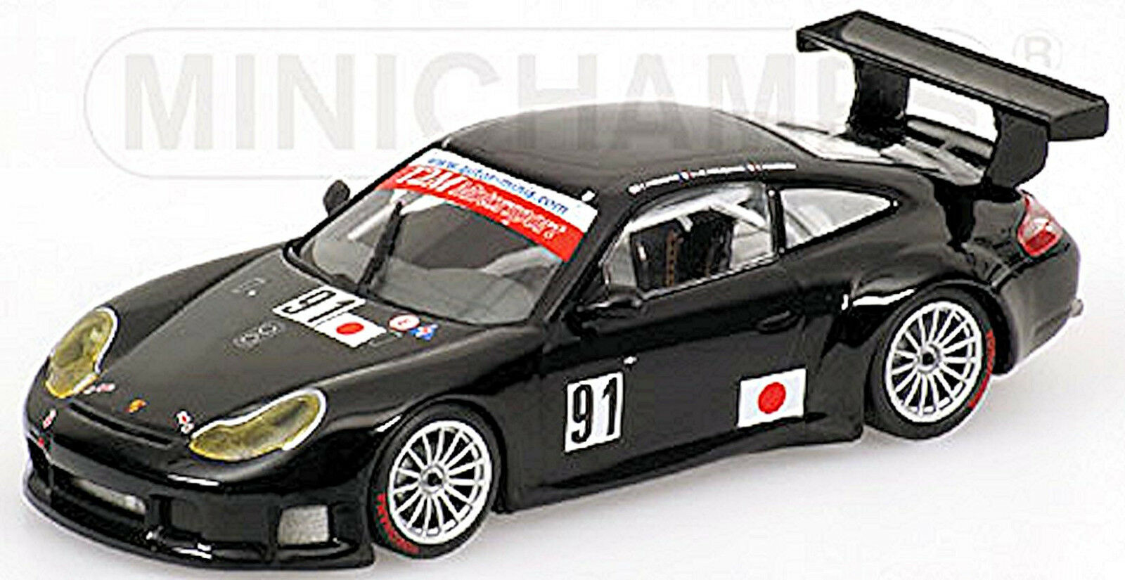 Porsche 911 GT3 RS Essais Essais Essais du Mans 2005 Yamagishi Pompidou whiteh 1 43 Minich dc066d