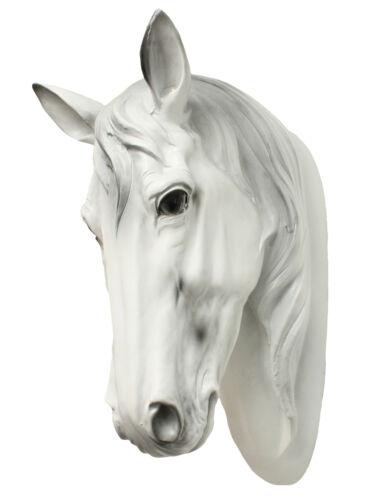 Dekofigur cheval buste cheval blanc tierdeko étalon jument