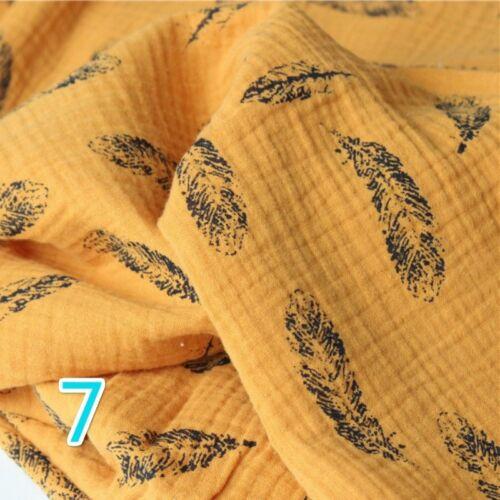 100/% Puro Algodón Crepé Tela Impresa material de tapicería de ropa de Bebé Suave Acogedor