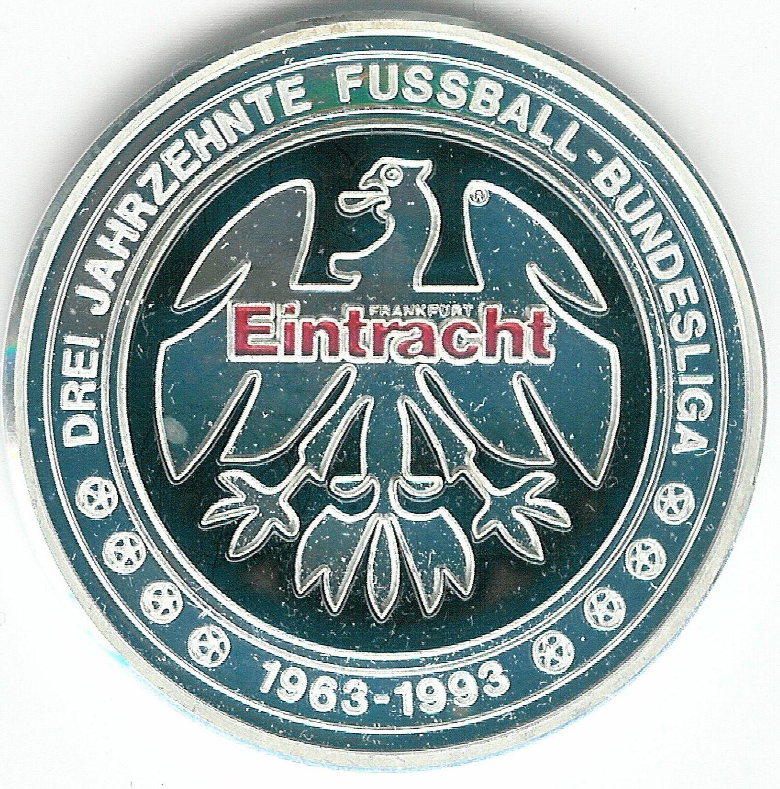 Eintracht Frankfurt Silber-Münze-Medaille  999 mit Punze   30 Jahre Bundesliga  Silber-Münze-Medaille  769284