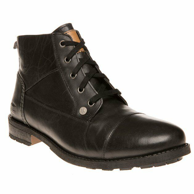 New MENS PENGUIN BLACK DALSTON LEATHER BOOTS