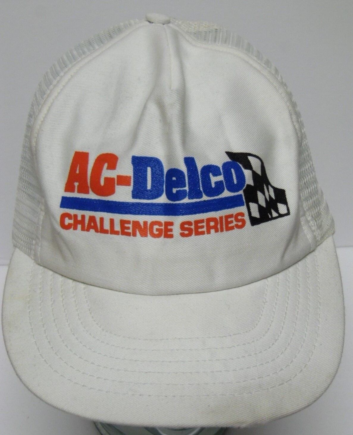 Vtg 1980s CHALLENGE 90s ASA AC DELCO CHALLENGE 1980s SERIES RACING SNAPBACK ADVERTISING HAT CAP 02027f