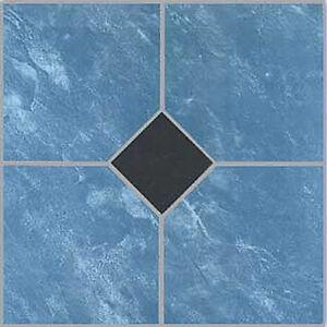 Bathroom Floor Tile Blue. Image is loading Blue Vinyl Floor Tile 40 Pcs Adhesive Bathroom  Flooring Actual