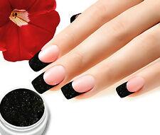 UV Farbgel 03 Schwarz Glitter 5ml Colorgel, Top Studioqualität von BC-Top-Nails