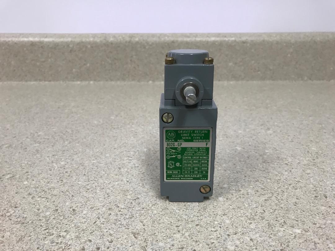 ALLEN BRADLEY F 802G-GP Ser. F BRADLEY interruptor de límite de devolución de gravedad  Nuevo 4f3df4