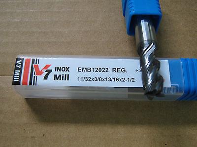 "11//32/""x13//16/""LOCx2 1//2/"" OAL V7 4 FLT Carbide End Mill,YG-1 brand Aitin coat/""NEW/"""