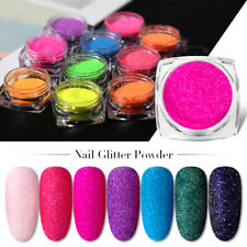 Holo Glitter Nail Sugar Powder Art UV Gel Nail Dust Decor Pigment Manicure DIY