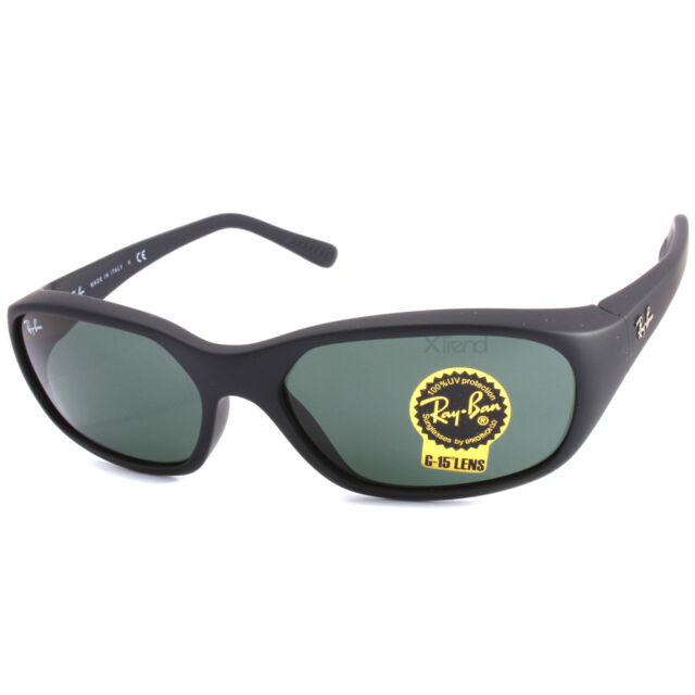 421cc5a506fd0d Ray Ban RB2016 W2578 Daddy-O Matte Black Grey Green G15 Lens Sunglasses
