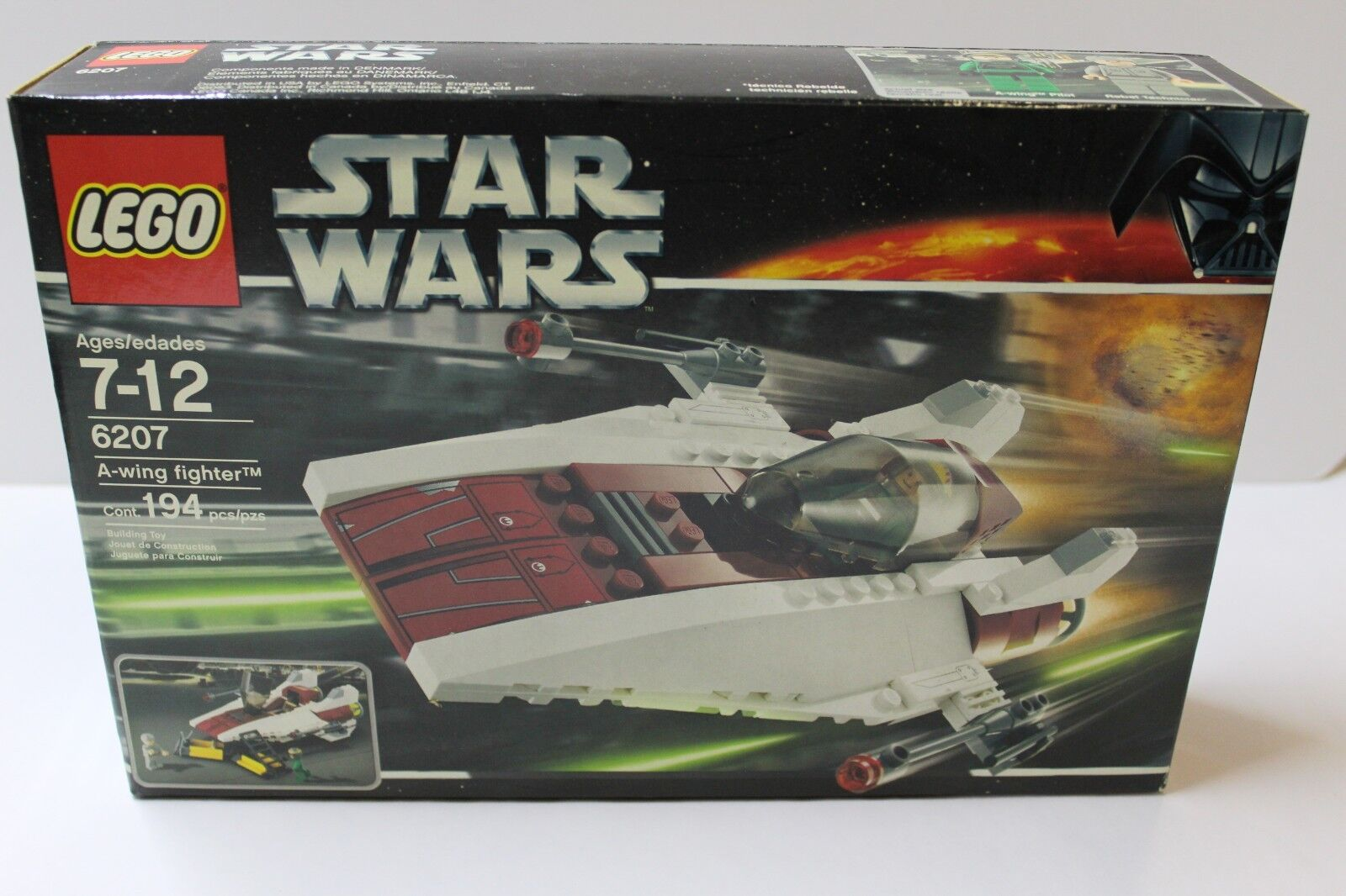 LEGO 6207 Star Wars A-Wing Fighter NIB FREE SHIPPING