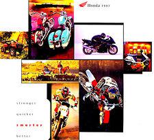 1997 HONDA MOTORCYCLE & ATV BROCHURE-GOLDWING-VALKYRIE-CBR-SHADOW-SCOOTER-CR-XR
