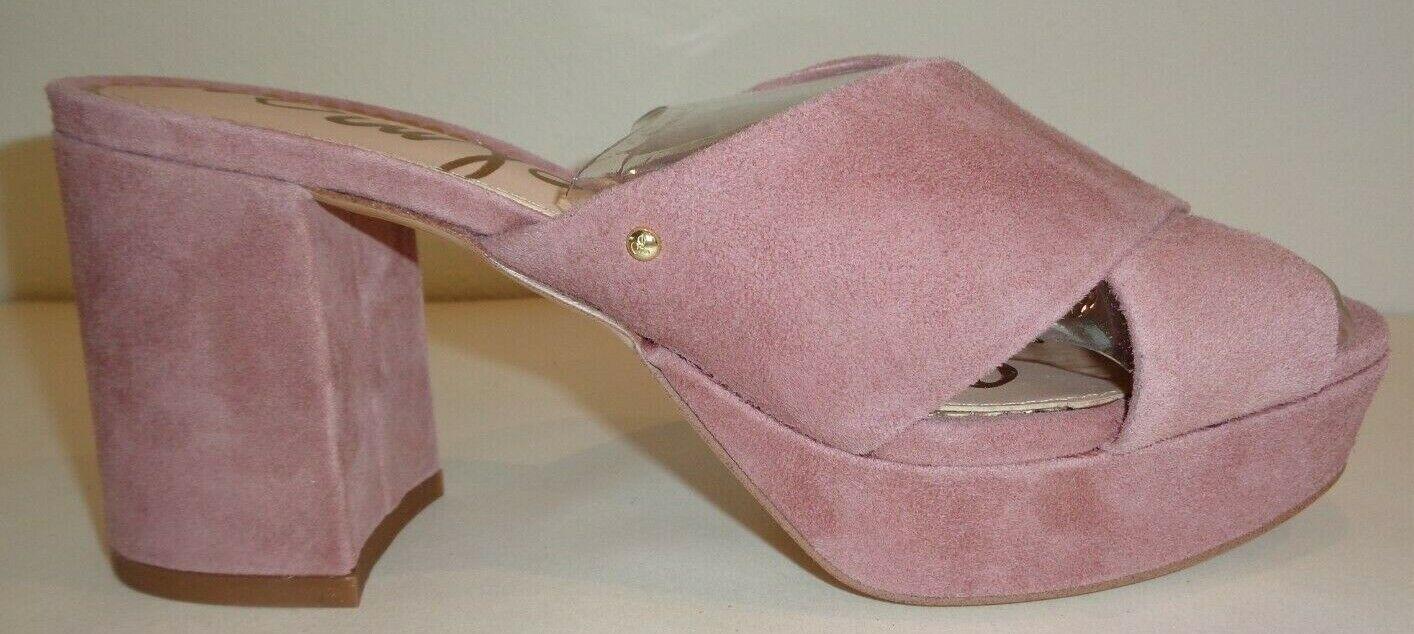 577160d8c76 Sam Edelman Size 8 M Jayne Dusty Rose Suede Leather Sandals Womens ...