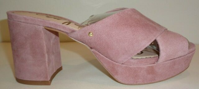 4070faa653c7 Sam Edelman Size 8 M JAYNE Dusty Rose Suede Leather Sandals New Womens Shoes