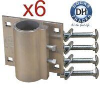 6 Boat Dock Pipe (post) Bracket 1.25 W Bolts. Pier Leg Holder. Dock Hardware