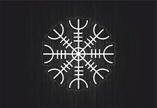 Sticker icelandic magical staves symbol viking odin runic car ottastafur r1