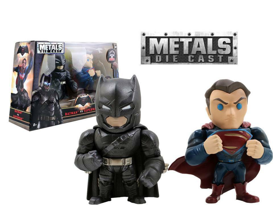 METALES Die-Cast Batman v v v Superman - 2-paquete Duo set M9 10 cm Jada Toys a33169