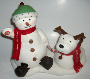 Hallmark 2004 Jingle Pals Animated Singing Snowman & Dog Jingle Bells