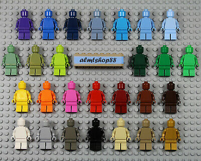 Lego Monochrome PEARL GOLD Solid Color Head Torso Legs NEW Statue