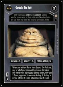 Star Wars CCG Gardulla The HuttCoruscantNM//Mint Bonus