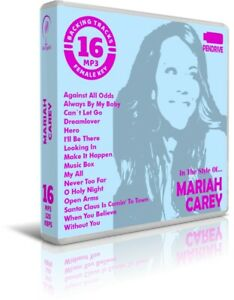 16-Backing-Tracks-MP3-In-The-Style-Of-MARIAH-CAREY-Pendrive-USB-Listen-Demos
