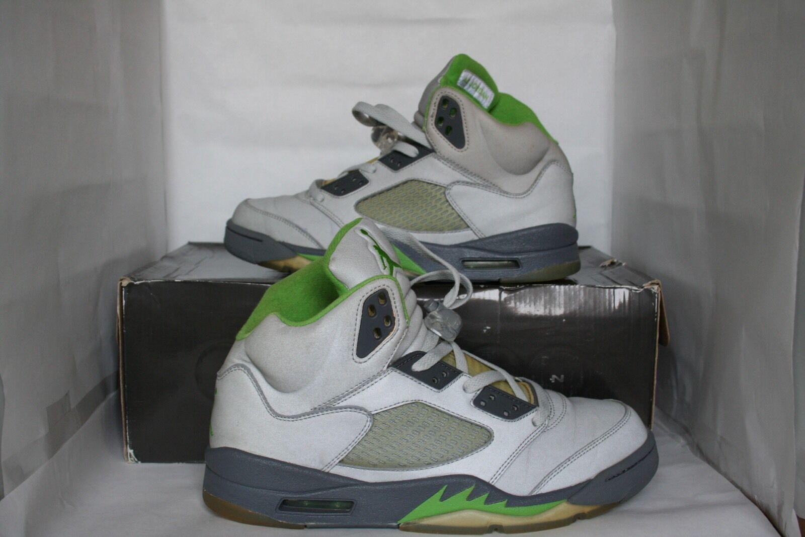 Nike Nike Nike Air Jordan V 5 Retro Size 9.5 Green Bean (3M Reflective) 2006 Used Supreme ce79eb