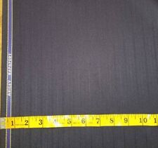 WOOL Suiting Fabric 1//4 yard remnant Navy Blue
