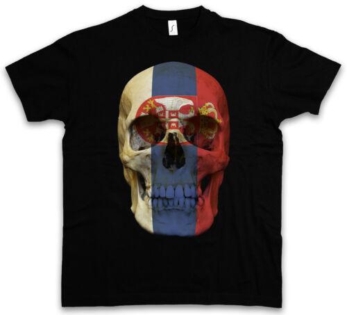 Classic serbia skull Flag t-shirt-tete de mort crâne bannière drapeau serbie