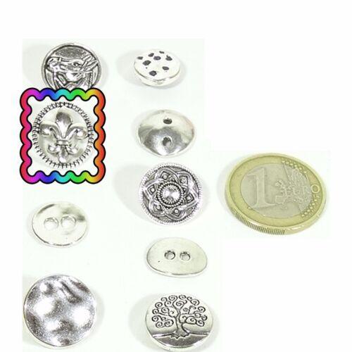 Lot Of Beads Buttons to Choose Silver Tibetan Button Bouton Taste Knap Кнопк