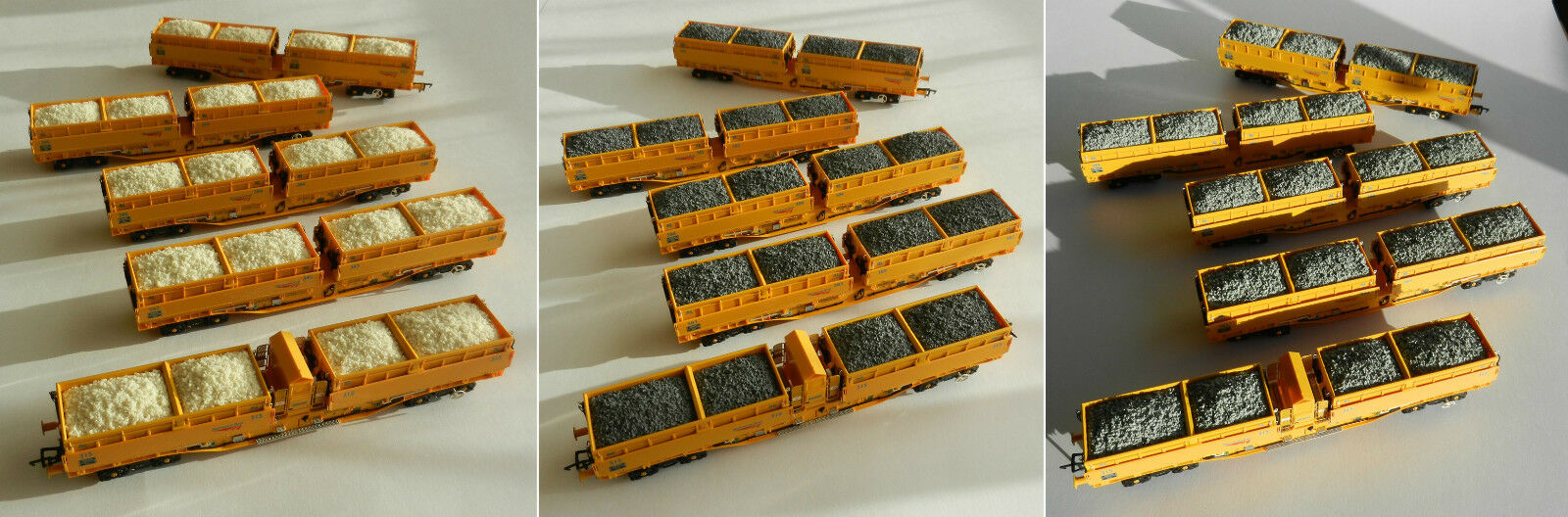 RESIN WAGON LOADS FOR DAPOL OO GAUGE MRA SIDE TIPPING BALLAST WAGON 5 CAR SET