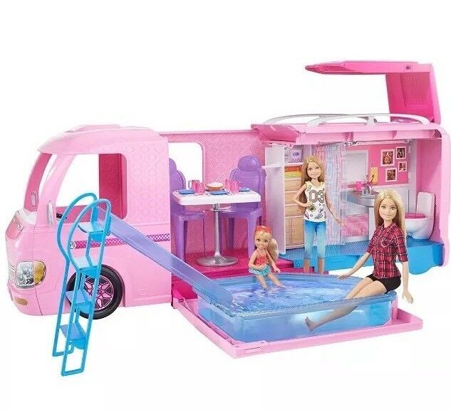 Barbie Dream CAMPER VAN PLAYSET piscina scivolo. NUOVO e SIGILLATO