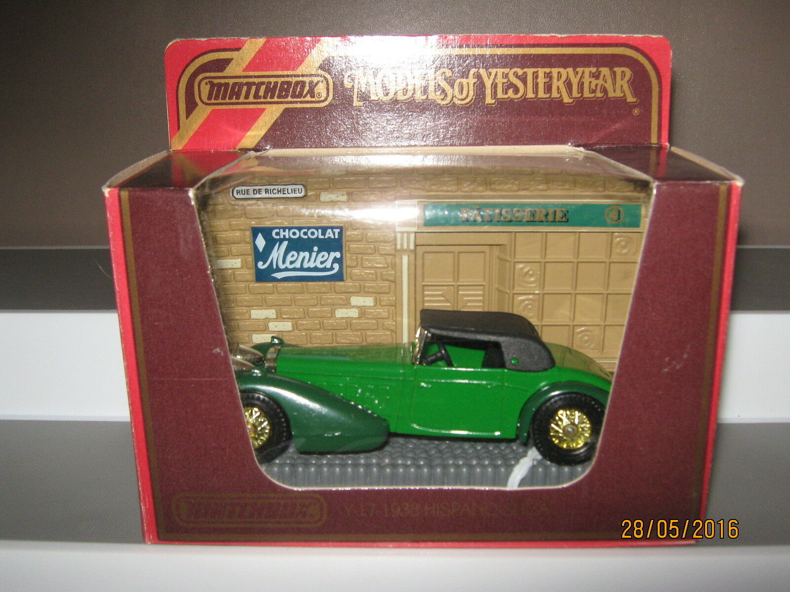 Matchbox models of  Yesteryear y-17 Hispano Suiza 1938 issue 9  Excellent v rare