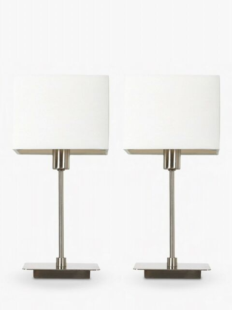 Boxed Ex Display House By John Lewis Ruby Table Lamps Nickel Set Of 2 35 00