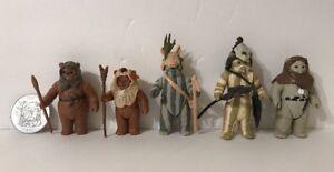 Millésime 1983-1985 Star Wars Rotj Potf Ewok Lot De 5 Romba Paploo Teebo Original