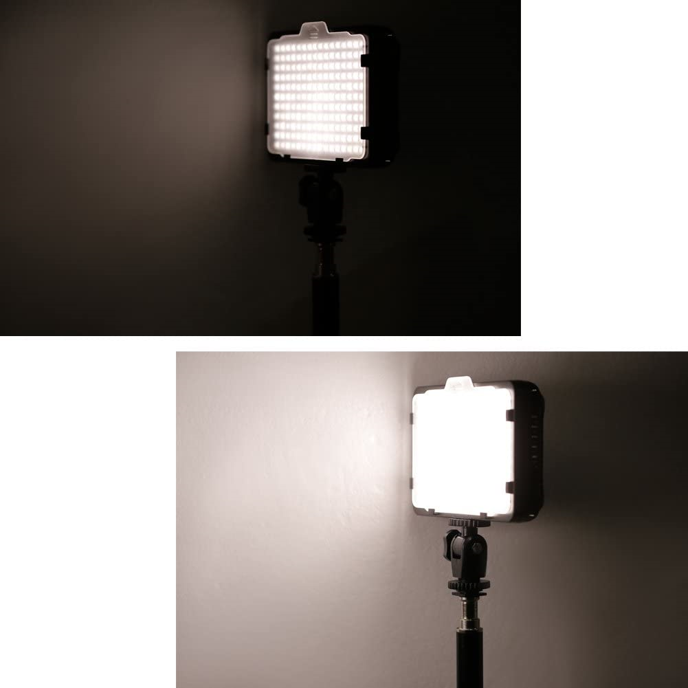 Neewer Dimmable 176 LED Video Light 5600K on Camera Light Panel Compatible with