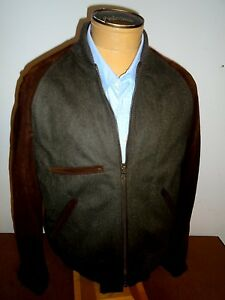 0c777964b Details about Billy Reid Wool / Suede Leather Finn Bomber Jacket NWT Large  $995 Made in Italy