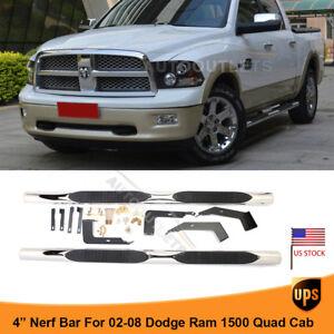 "For 03-09 DODGE Ram 2500//3500 Quad Cab 4/"" Nerf Bar Side Bar Running Board S//S A"