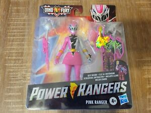 "Power Rangers Dino Fury Pink Ranger w/ Key 6"" Action Figure Hasbro RARE IN HAND!"