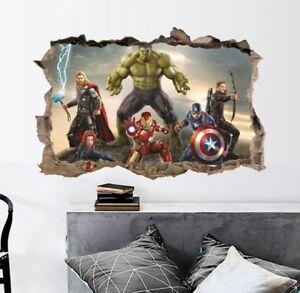 Avengers Infinity War 3d Xxl Wandtattoo Wandsticker Deko Kinderzimmer Hulk Ebay