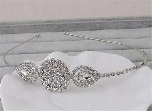 Rhinestone-Wedding-Hair-piece-Diamante-Bridal-Gown-Accessories-Crystal-Head-Band