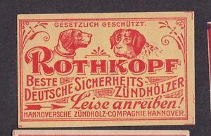 Ancienne étiquette allumette Allemagne BN20358 Chien OOnEK3WY-09121635-164726590