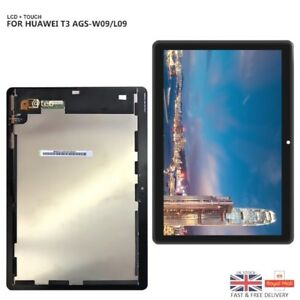 New Genuine Huawei MediaPad T3 10 AGS-W09 L09 L03 LCD Touch Screen Digitizer UK 7625883287831