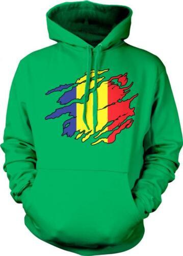 Romania Shred Flag Romanian Pride Rumania Roumania Mandrie Hoodie Pullover