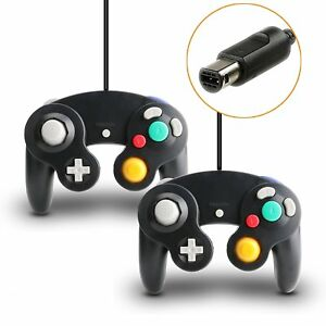 2X-Wired-Controller-Joypad-Game-stick-Gamepad-For-GameCube-GC-amp-Wii-Console