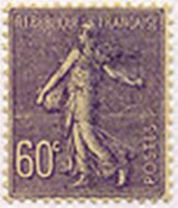 FRANCE-STAMP-TIMBRE-YVERT-N-200-034-TYPE-SEMEUSE-LIGNEE-60c-LILAS-034-NEUF-x-TB