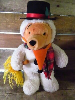 """2019 Neuestes Design Disney Store Schneemann Winnie The Pooh 13 """" Plüsch Plüschtier Spielzeug-bär Fabriken Und Minen"""