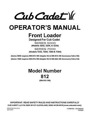 Cub Cadet Operators Manual Model No LTX 1045