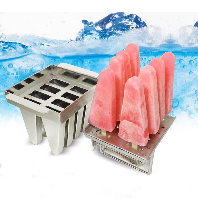8Pcs Ice Cream Mold Stainless Steel Ice Lolly Mold Popsicle Mold