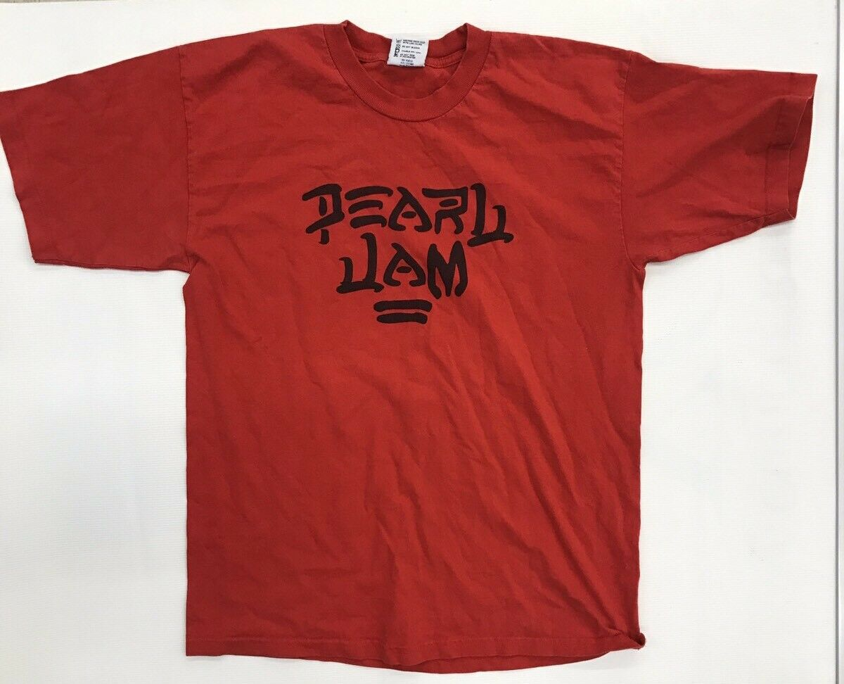 Vintage Men's Pearl Jam Logo Shirt Size Large Eddie Vedder Made in USA