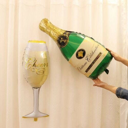 Large Champagne or Beer Bottle AIR//Helium Foil Balloon Party Birthday Wedding