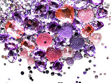 CandyCabsUK 50g Mixed Flatback & 3D Gems Rhinestones Jewels Princess Mix DIY Kit